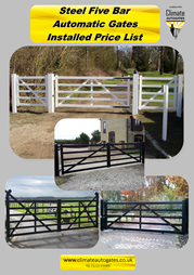 Electric Sliding Gates by Climate Autogates