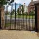 Automatic Abington Arched Design Gates - Barkway Cambridgeshire