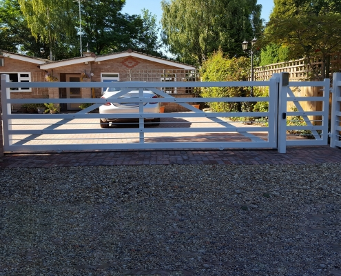 Steel five bar sliding gate shelford