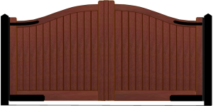wooden automatic gate in Saffron Walden