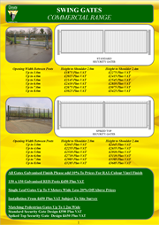 Commercial Swing Gates Brochure