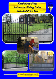 Wrought Iron Style  Steel Sliding Gates